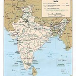 Political map of India 1996
