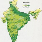 Population map of India 1973