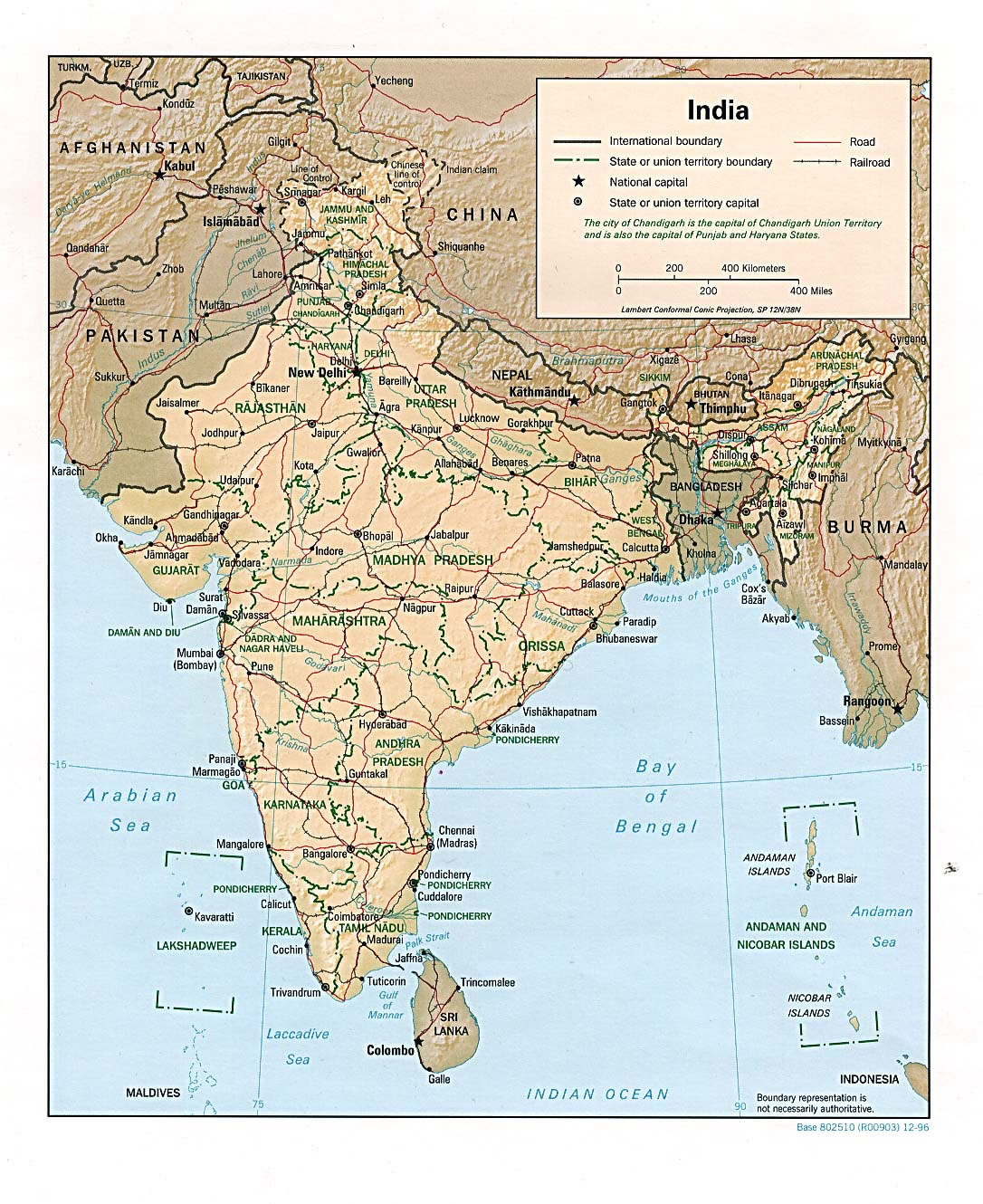 relief-map-of-india-1996