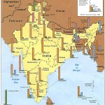Religions map of India 1987