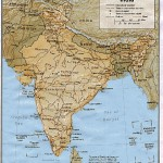Shared relief map of India 1979