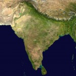 South asia India satellite map