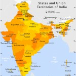 State and union territories India map