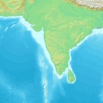Topographic India map